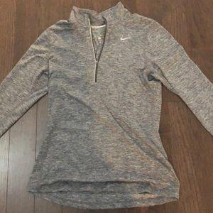 Nike Dri Fit Gray Quarterzip